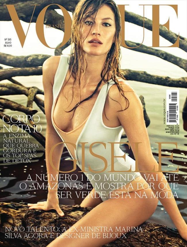 Dünyanın en çok kazanan modeli Gisele Bündchen, Vogue dergisinin Brezilya edisyonu Temmuz sayısı için yağmur ormanlarında poz verdi.