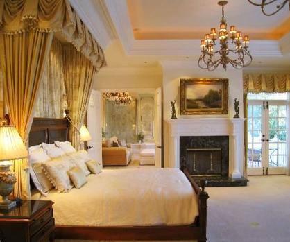 Evdeki yatak odalarından biri..