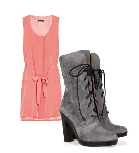 Yazlık elbiselerinizi botlarla tamamlamaya ne dersiniz? Hem böylece yavaş yavaş kendinizi yaklaşmakta olan sonbahar sezonuna hazırlamış olursunuz. Elbise: Rag And Bone Ayakkabı: Reed Krakoff