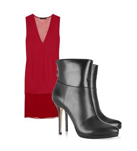 Yazlık elbiselerinizi botlarla tamamlamaya ne dersiniz? Hem böylece yavaş yavaş kendinizi yaklaşmakta olan sonbahar sezonuna hazırlamış olursunuz. Elbise: Thakoon Ayakkabı: Jimmy Choo