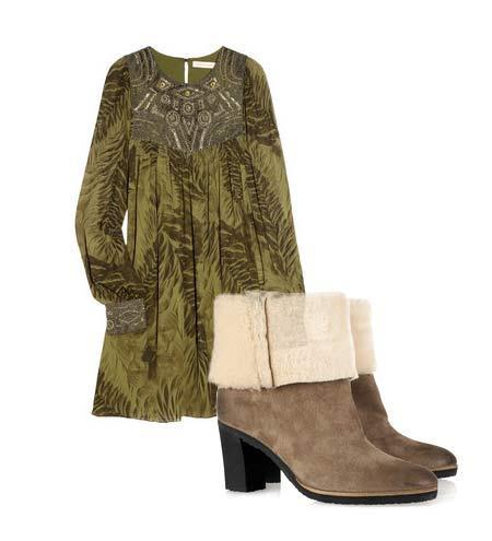 Yazlık elbiselerinizi botlarla tamamlamaya ne dersiniz? Hem böylece yavaş yavaş kendinizi yaklaşmakta olan sonbahar sezonuna hazırlamış olursunuz. Elbise: Matthew Williamson Ayakkabı: Maison Martin Margiela