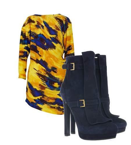Yazlık elbiselerinizi botlarla tamamlamaya ne dersiniz? Hem böylece yavaş yavaş kendinizi yaklaşmakta olan sonbahar sezonuna hazırlamış olursunuz. Elbise: Thakoon Addition Ayakkabı: Alexander McQueen