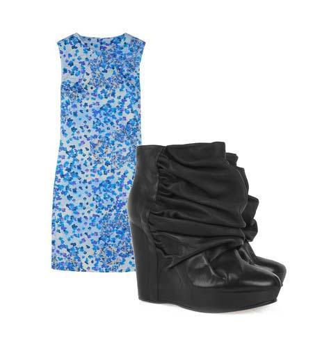 Yazlık elbiselerinizi botlarla tamamlamaya ne dersiniz? Hem böylece yavaş yavaş kendinizi yaklaşmakta olan sonbahar sezonuna hazırlamış olursunuz. Elbise: Erdem Ayakkabı: Maison Martin Margiela