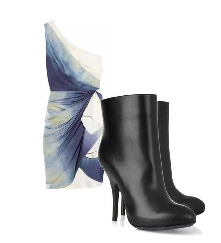 Yazlık elbiselerinizi botlarla tamamlamaya ne dersiniz? Hem böylece yavaş yavaş kendinizi yaklaşmakta olan sonbahar sezonuna hazırlamış olursunuz. Elbise: Alice+Olivia Ayakkabı: Lanvin