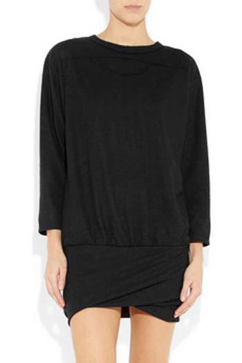 Isabel Marant tasarımı bu elbise ipek ve yünden. Dolayısı ile sonbaharda da kışta da rahatlıkla giyebilirsiniz.