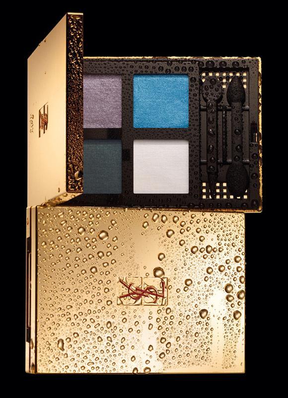 Makyajın ikinci adımında ise önerimiz Yves Saint Laurent  Chromatics 2 numara göz farı. Yumuşak far fırçasıyla açık mavi ve moru karıştırarak üst göz kapağınıza sürün. Alt kirpiklerinizin dibine de hafifçe mor renkli fardan sürün.