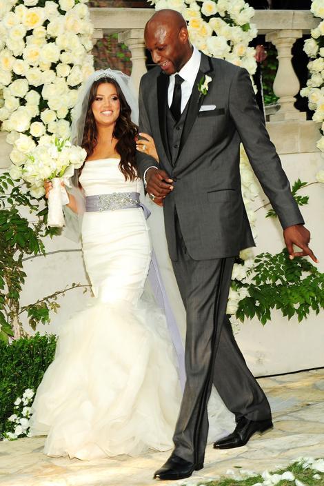 Khloé Kardashian Tıpkı ablası Kim Kardashian gibi, Lamar Odom'la olan düğününde Khloé Kardashian da Vera Wang bir gelinlik tercih etmişti.