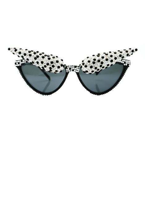 Siyah ve beyaz gümüş, Swarovski ve kristal gözlükler, A-Morir