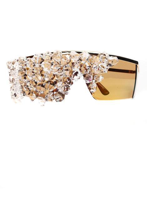 'The Fame' kristal güneş gözlüğü, Bleu Dame.