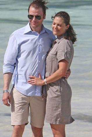 İsveç Prensesi Victoria ve eşi Daniel Westling düğünden sonra Tahiti'ye gitti.