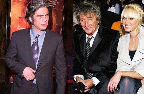 İddialara göre Del Toro ve ünlü şarkıcı Rod Stewart'ın kızı Kim bir gece Los Angeles'taç buluşup birlikte olmuşlardı ve bu bebek de o gecenin bir anısıydı. Her iki taraf da bu konu hakkında bir açıklama yapmadı. Stewart bir kız çocuğu dünyaya getirdi.