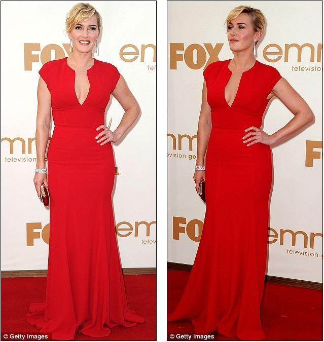 Deneyimli aktris Kate Winslet da kırmızıyı tercih edenlerdendi. Göğüs dekolteli tuvaleti Elie Saab imzalıydı.