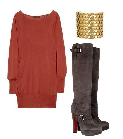 Elbise: Gucci Ayakkabı: Christian Louboutin Bileklik: Roberto Cavalli