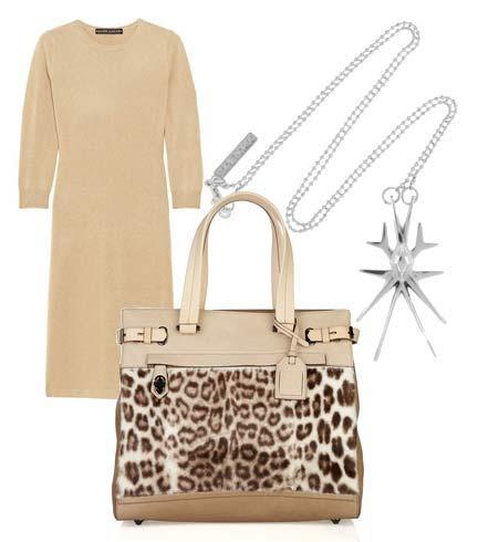 Elbise: Ralph Lauren Black Label Çanta: Reed Krakoff Kolye: Eddie Borgo