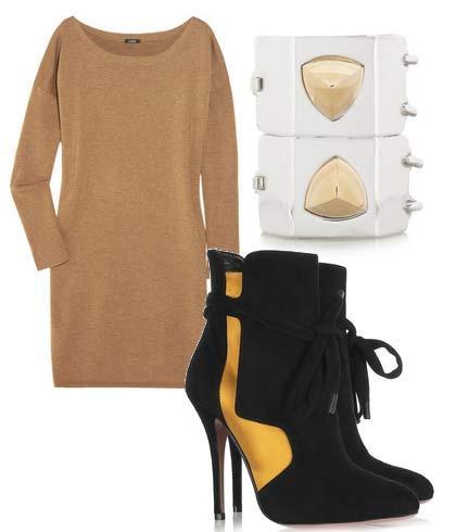 Elbise: J. Crew Ayakkabı: Vionnet Bileklik: Eddie Borgo