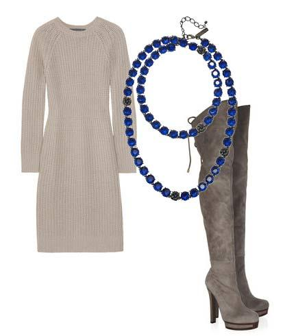 Elbise: Claudia Schiffer  Ayakkabı: Gucci Kolye: Oscar De La Renta