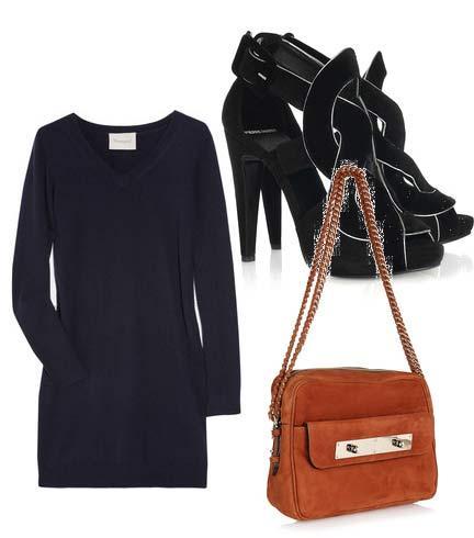 Elbise: Crumpet Ayakkabı: Pierre Hardy Çanta: Mullberry