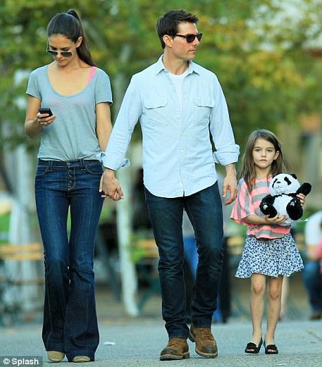 İkili daha sonra Tom Cruise'la buluşmak için Pensilvanya'ya uçtu.