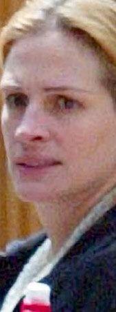 Julia Roberts'ın doğal görüntüsü.