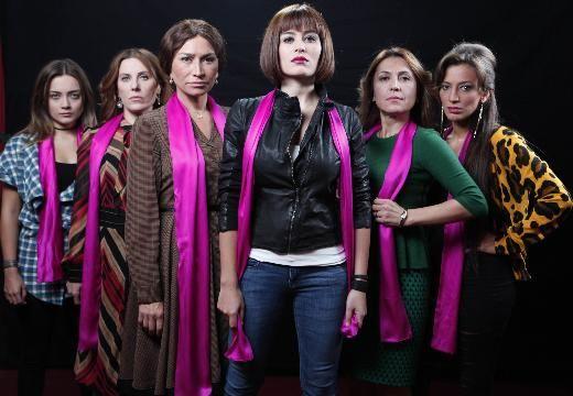 Belçim Bilgin, Demet Akbağ, Nihal Yalçın, Asuman Dabak, Ayten Soykök ve Damla Sönmez şiddete karşı birleşti, ortaya bir kara komedi çıktı.