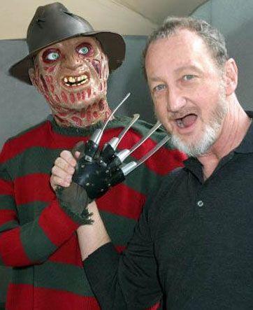 """Hep dehşet saçan adam.  """"Elm Sokağı"""" serisinin zihinlere kazınan ürkütücü karakteri Freddy Krueger'ı beyazperdede Robert Englund canlandırdı."""