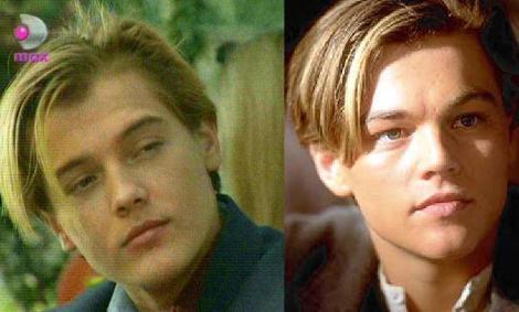 Arda Kural (solda) ve Leonardo DiCaprio'nun dikkat çeken benzerliği.