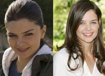 Pelin Karahan ile Katie Holmes'un gençlik yılları arasındaki şaşırtan benzerlik.