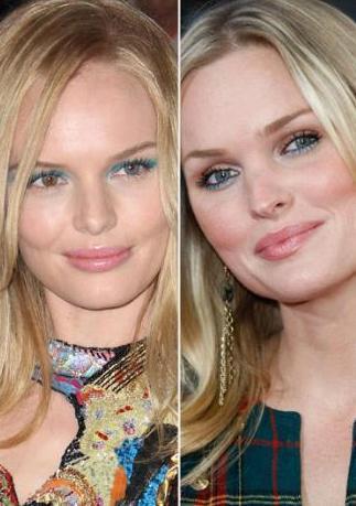 Kate Bosworth ve Sunny Mabrey'in yüz hatları kopya gibi.