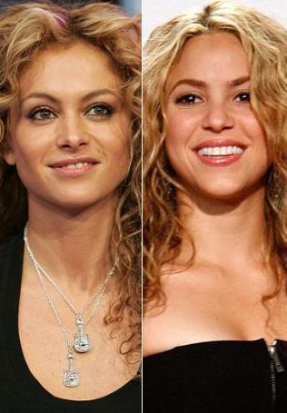 Paulina Rubio ve Shakira birbirlerinin kopyası gibi.