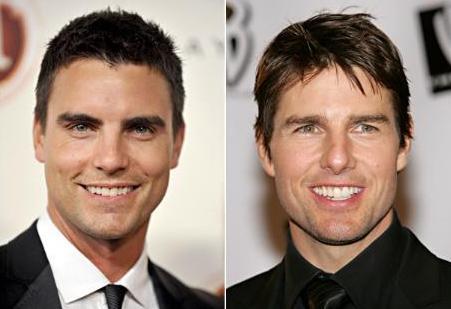 Colin Egglesfield (solda) Tom Cruise'un erkek kardeşi değil, sadece çok benziyor.