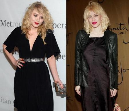 Mary Kate Olsen ve Courtney Love'ın birbirlerine benzediği an.