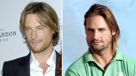 Halle Berry'nin eski sevgilisi Gabriel Aubry (solda) ile Lost'un yakışıklısı Josh Holloway'in benzerliği.