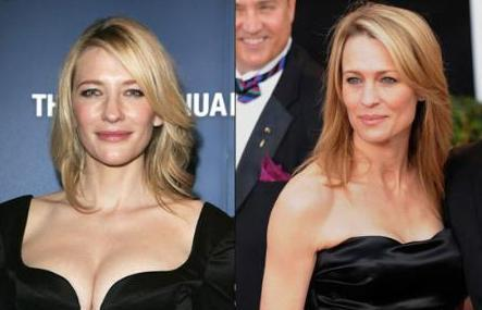 Cate Blanchett ile Robin Wright Penn sizce de kızkardeş gibi değiller mi.
