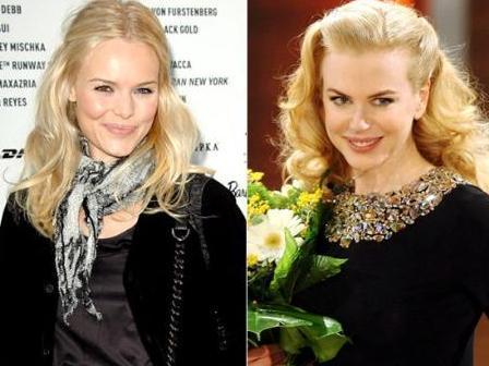 Kate Boswarth (solda) Nicole Kidman'ın kardeşi gibi görünüyor.