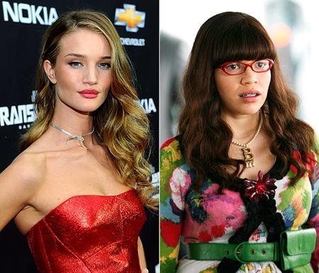 Huntington Whiteley 15 yaşındaki halinin, başrolünü America Ferrera'nın üstlendiği ünlü TV dizisi Çirkin Betty'ye benzediğini belirterek zaman içinde değiştiğini söyledi.