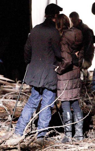 Bu fotoğraflar Jolie'nin yönettiği filmin çekimleri sırasında çekildi.