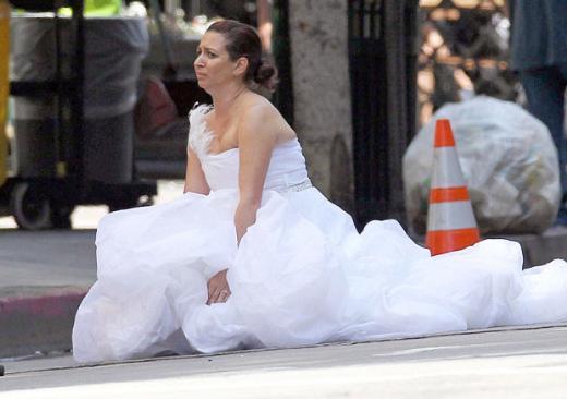 Maya Rudolph, The Bridesmaids'ın ilginç bir sahnesinde.