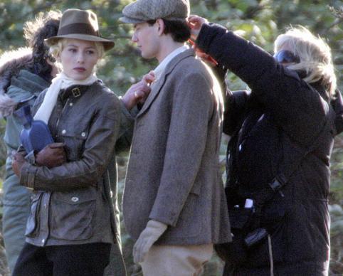 Nicole Kidman film setinde.
