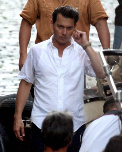 Johnny Depp'in set halleri.