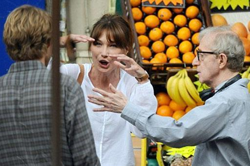 Woodl Allen ve Carla Bruni- Sarkozy