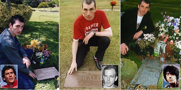 Mark'ın ziyaret ettiği mezarlardan en sevdikleri ABD'nin suikasta kurban giden başkanı John F. Kennedy, ona suikast düzenlediği iddia edilen Lee Harvey Oswald ve ünlü Marksist Troçki.   Mark'ın bundan sonraki ilk ziyaret etmek istediği ise Kuzey Kore lideri Kim Il-sung'un mezarı. Bazı insanlar bunu hastalıklı bir durum olarak değerlendirse de onun için tarihi kişileri tanımak için güzel bir yöntem.