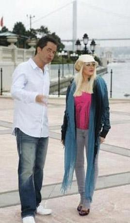 Aguilera Acun Ilıcalı'nın da konuğu oldu..