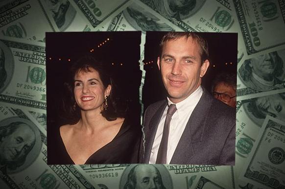 16 yıllık evlilik ve üç çocuktan sonra 1994'te boşandılar. Boşanma Costner'da 80 milyon dolara patladı.