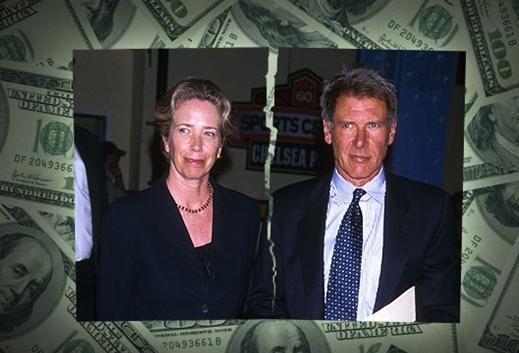 2004'ün bir başka gündem yaratan boşanması da Harrison Ford ve Melissa Mathison'dan geldi. 18 yıllık evlilik ve 2 çocuk 85 milyon dolarlık dava ile son buldu.
