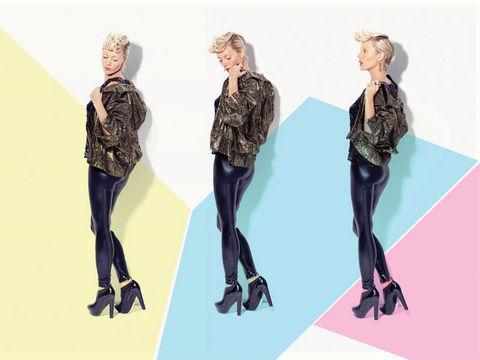 İşçil, Marilyn Monroe ve ünlü sanatçı Andy Warhol'ün kısa filmleriyle tanınan, 1960'ların efsanevi güzellerinden Edie Sedgwick olarak da poz verdi.