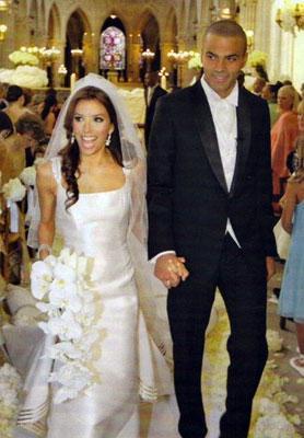 Eva Longoria ve Tony Parker  Fransa'da bir şatoda yapılan düğünlerinin gideri milyon dolarlarla ifade ediliyor. Ama, evlilikleri bitti.