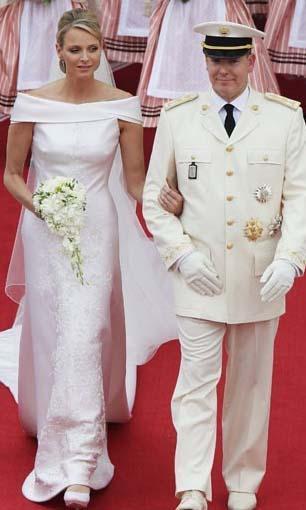 Monako Prensi Albert ve Charlene Wittstock  Düğünleri 50 milyon dolara mal oldu.