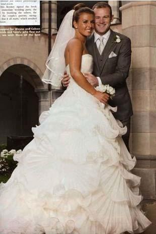 Wayne ve Coleen Rooney Ünlü futbolcu düğün için tam 3 mlyon euro harcadı.
