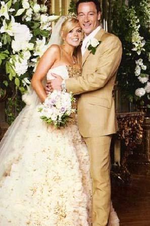 John Terry ve Tone Poole  Çift evlenirken 1 milyon dolar harcadı