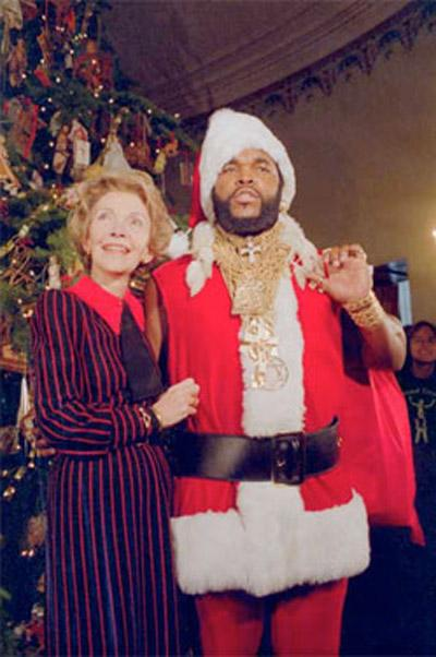 Nancy Reagan and Mr. T